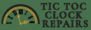tic toc clock repairs bold black logo