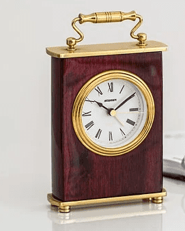 vinyl and gold small to medium clock