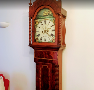 grandfather mahogony style clock