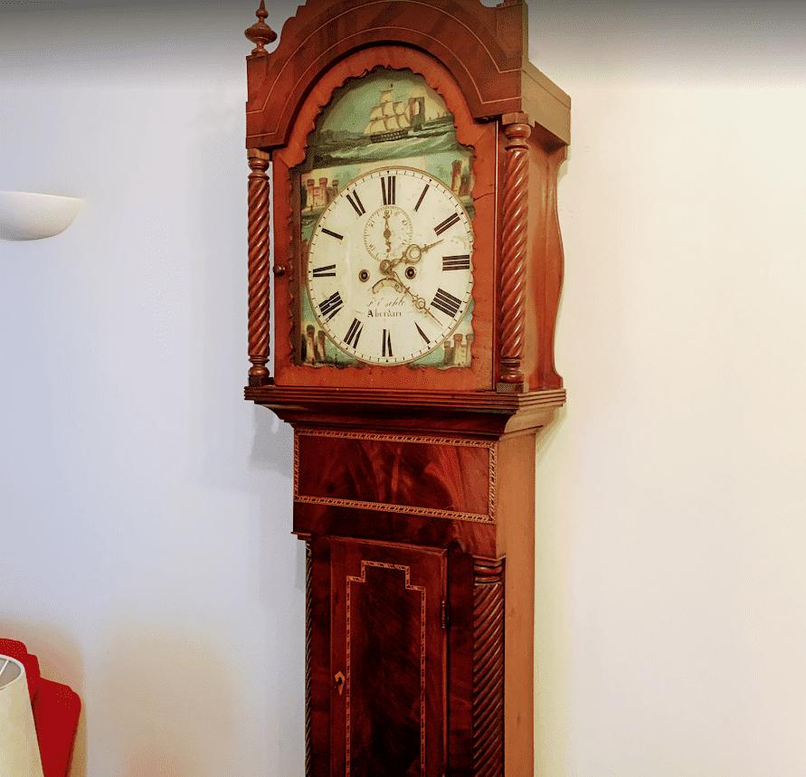 grandfather mahogony style clock